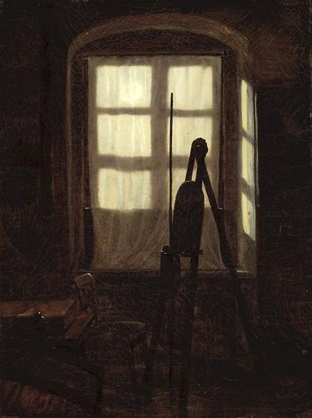 Carl Gustav Carus, 1789-1869, Studio in Moonlight, 1826, Staatliche Kunsthalle Karlsruhe