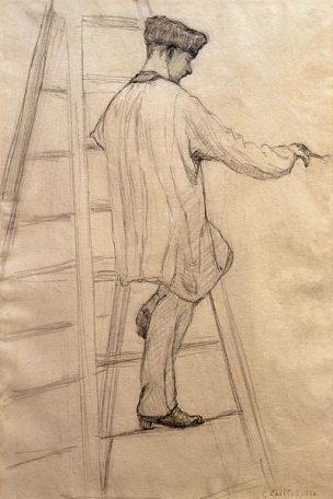 Maler_auf_einer_Leiter_Gustave_Caillebotte