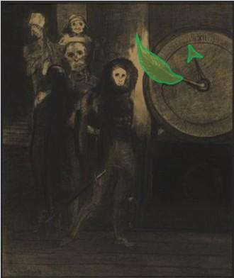 Masque Mort Rouge Odilon Redon Clin d'Oeil