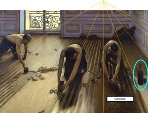 Caillebotte Raboteurs de parquets Orsay Perspective