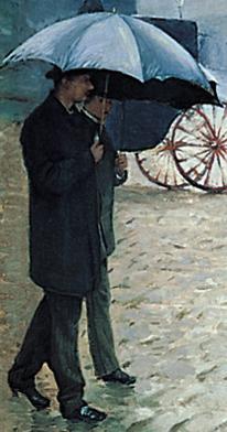 Caillebotte Rue de Paris, temps de pluie Couple 1