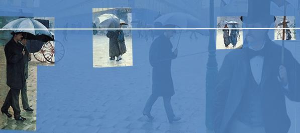 Caillebotte Rue de Paris, temps de pluie Couples