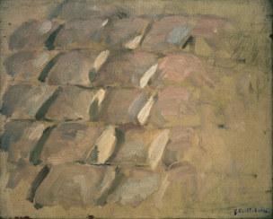 G.Caillebotte, Kopfsteinpflaster -  - G. Caillebotte / 'Etude pour Rue de Pari