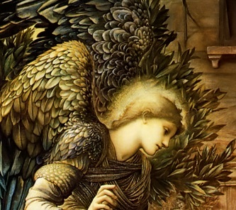 Burne Jones Annonciation Ange Laurier