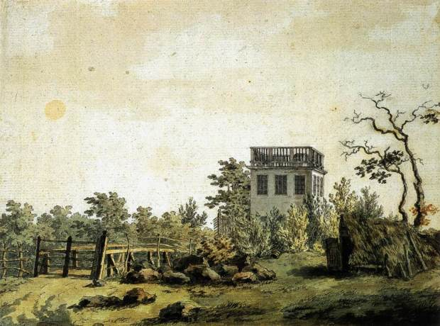 Caspar David Friedrich Paysage Belvedere Pavillon