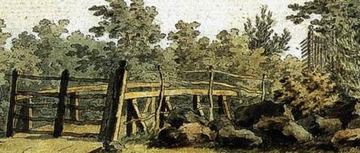 Caspar David Friedrich Belvedere Porte Cachée