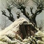Caspar David Friedrich Cabane neige