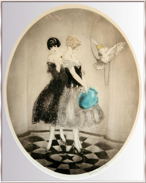 Icart Cruche et perroquet