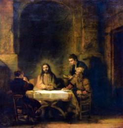 Rembrandt Emmaus 1648