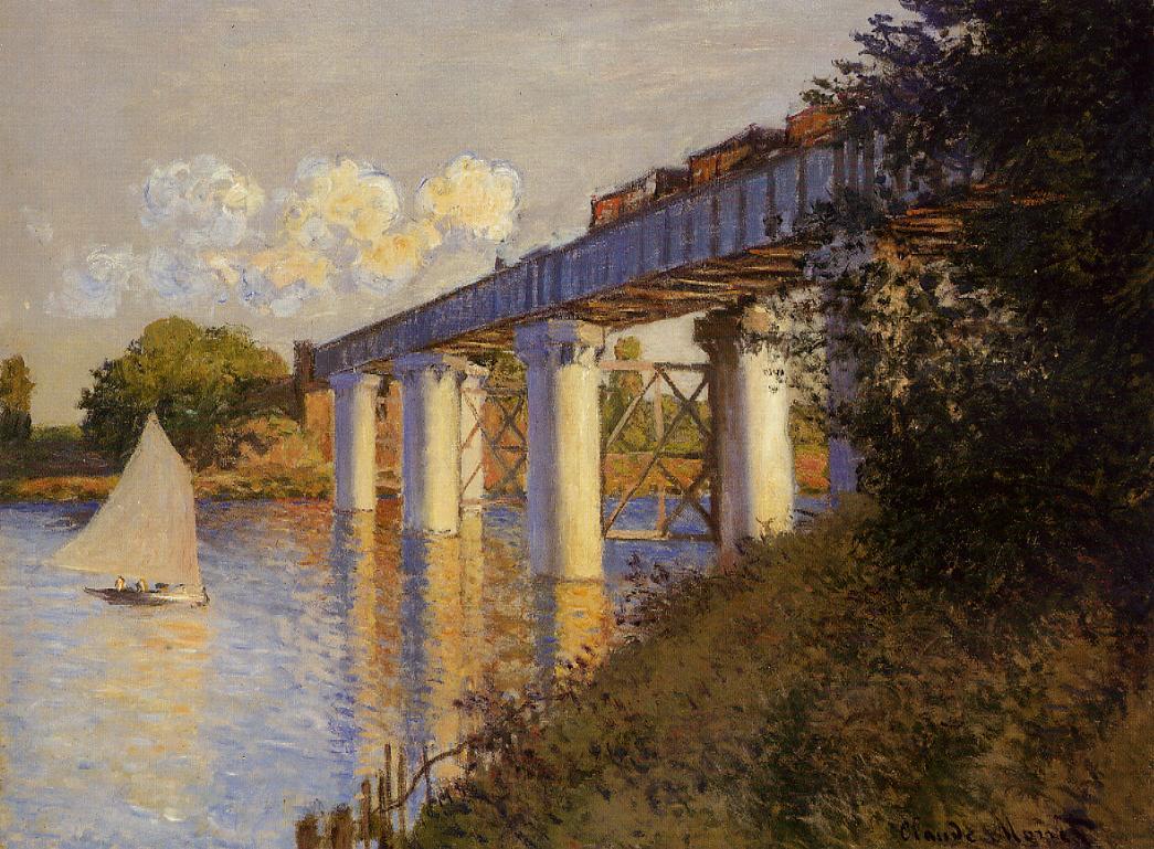 Monet Le Pont de chemin de fer, Argenteuil 1874