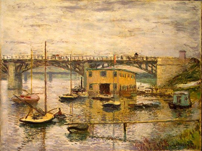 Le Pont d'Argenteuil, temps gris  Monet, 1874