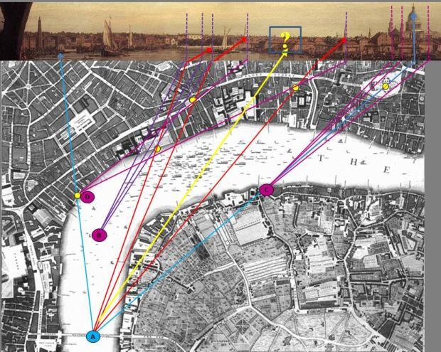 Pont_Sous_Pont_Canaletto_Carte_Londres_John_Rocque