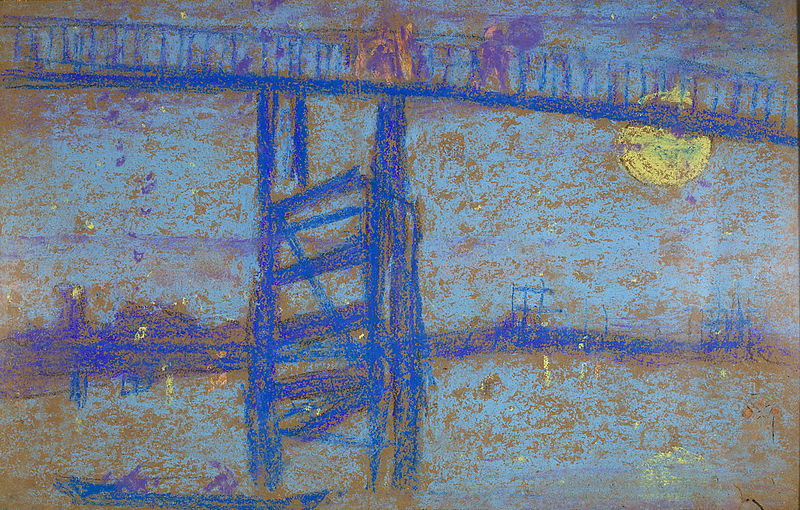 Le vieux pont de Battersea, symphonie en brun et argent Whistler
