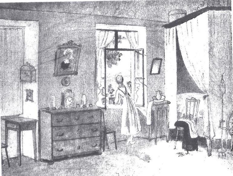 Schwind_Morgenstunde_Dessin 1823