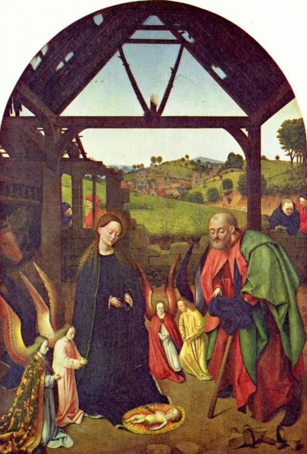 Petrus_Christus_Nativite_avec_aureoles