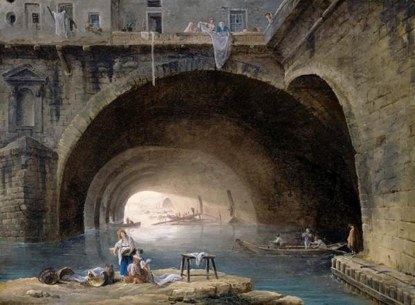 Pont_Sous_Pont_Hubert Robert Bievre