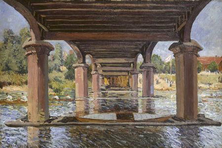 Alfred Sisley, Under the Bridge at Hampton Court, 1874. Kunstmuseum Winterthur.