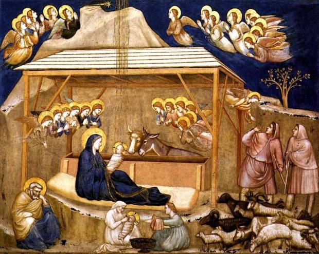 14 Giotto Nativity 1310s Fresco North transept, Lower Church, San Francesco, Assisi....Web Gallery Of Art