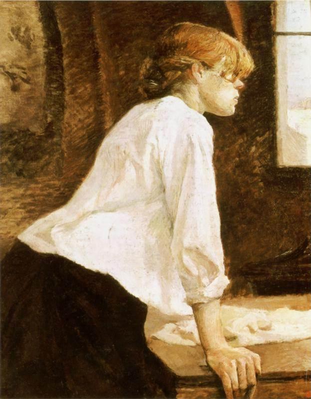 1888 La blanchisseuse  (inversee) Toulouse Lautrec