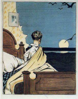 1906 Boy and Moon
