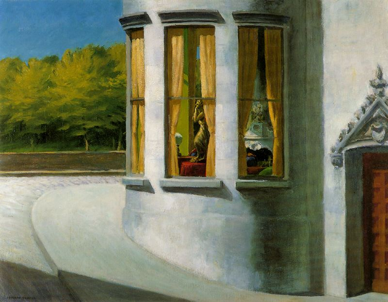 Hopper 1945 August in the city