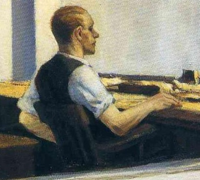 Hopper 1953 Office in a Small City_vigie