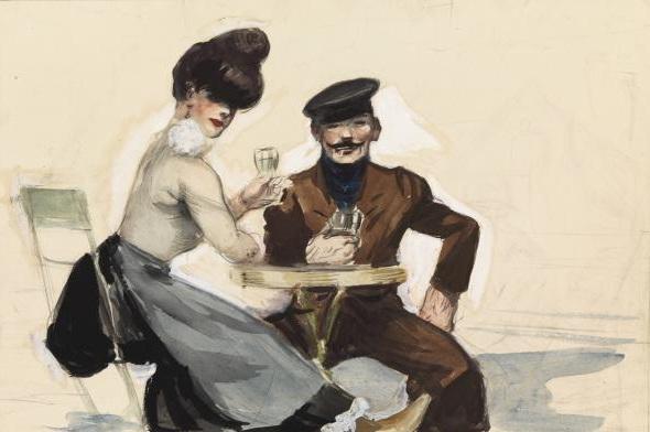 Hopper 1914_Soir_bleu_Etude_Preparatoire_Inversee