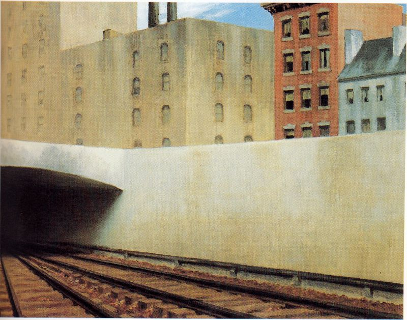 Hopper 1946 approaching a city