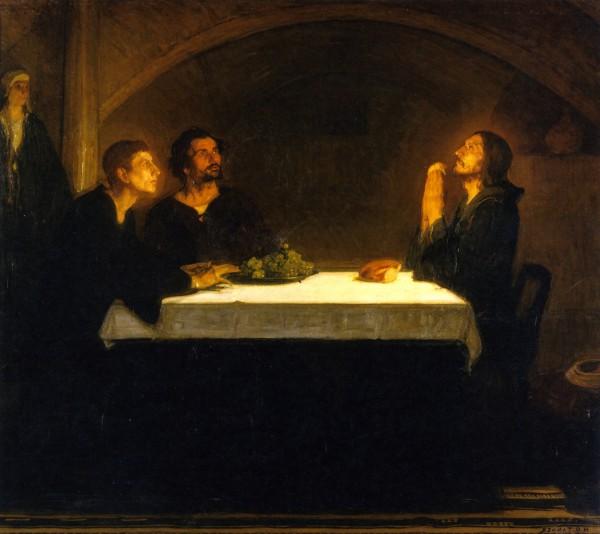 Henry-Ossawa-Tanner-Les pelerins d'Emmaus_inversé