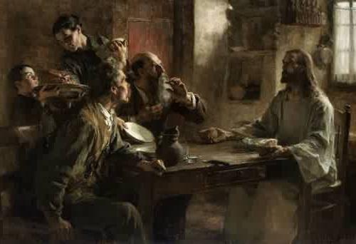 Leon-Augustin-Lhermitte-Le Repas d'Emmaus_ inverse