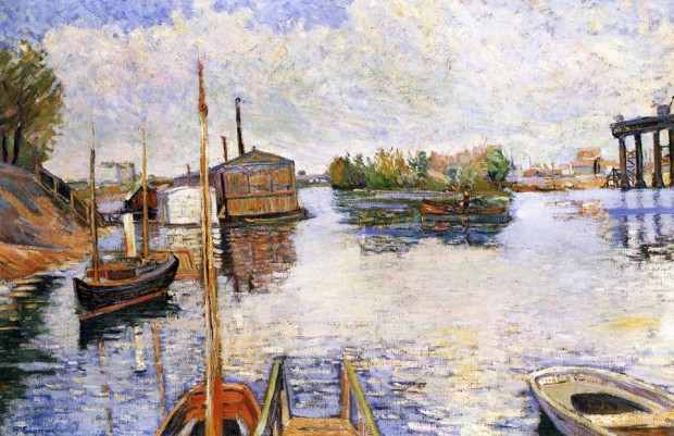44 Signac ponton-des-bains-bailet-1885