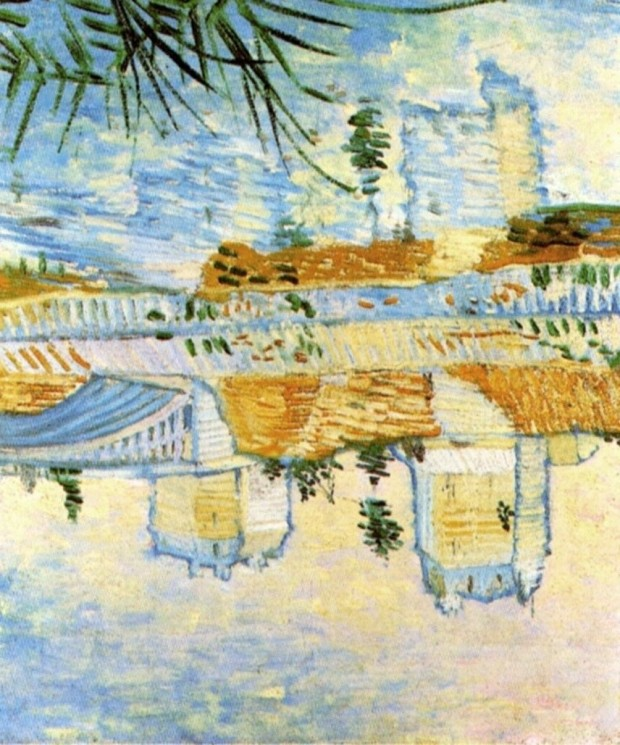 60 Van_Gogh_the-seine-with-the-pont-de-clichy-1887--reflets