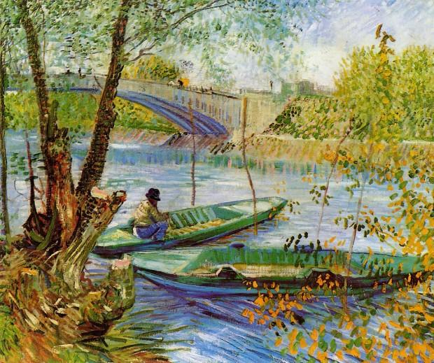 62 Van_Gogh_La peche au printemps_Pont_de_Clichy_1888