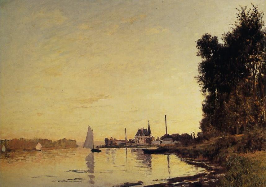 Monet_Pont Argenteuil_Promenade
