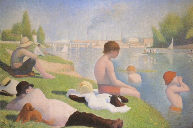 Seurat 1884 Baignade a Asnieres