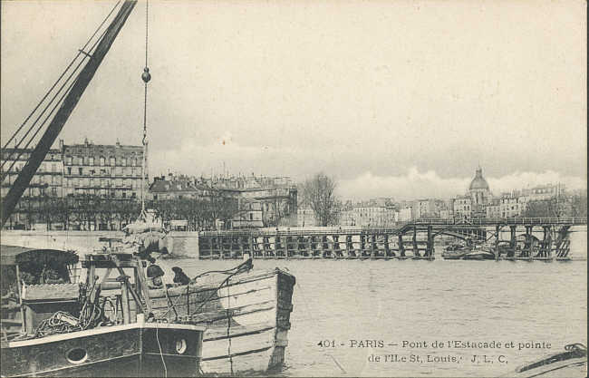 carte postale estacade vue de face