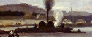 Jongkind Vue de Paris, la Seine, l'Estacade 1853 detail2