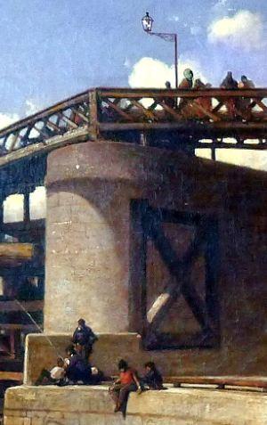 Jongkind Vue de Paris, la Seine, l'Estacade 1853 detail3