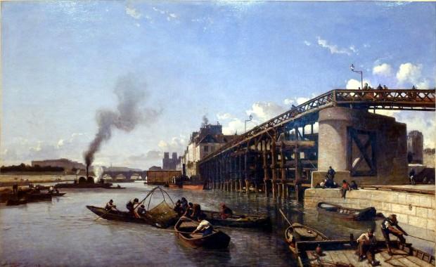 Jongkind Vue de Paris, la Seine, l'Estacade 1853