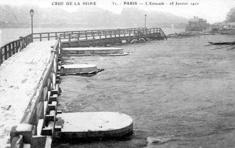 estacade inondation 1910
