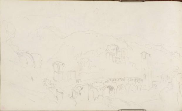 1819_Turner_Pont Narni carnet Ancone-Rome dessin 123