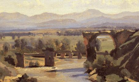1826-Corot_Pont de Narni_detail