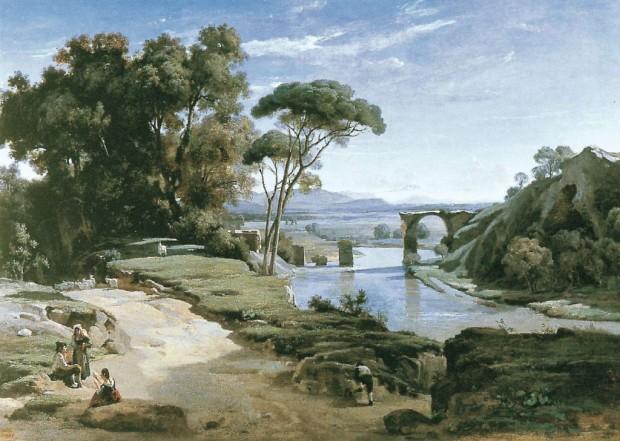 1827-Corot-Pont de Narni - Salon