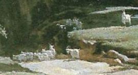 1827-Corot-Pont de Narni chevres