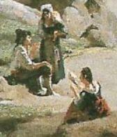 1827-Corot-Pont de Narni personnages gauche