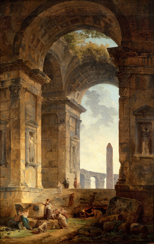 Hubert-Robert-1775-_Ruins_with_an_obelisk_in_the_distance