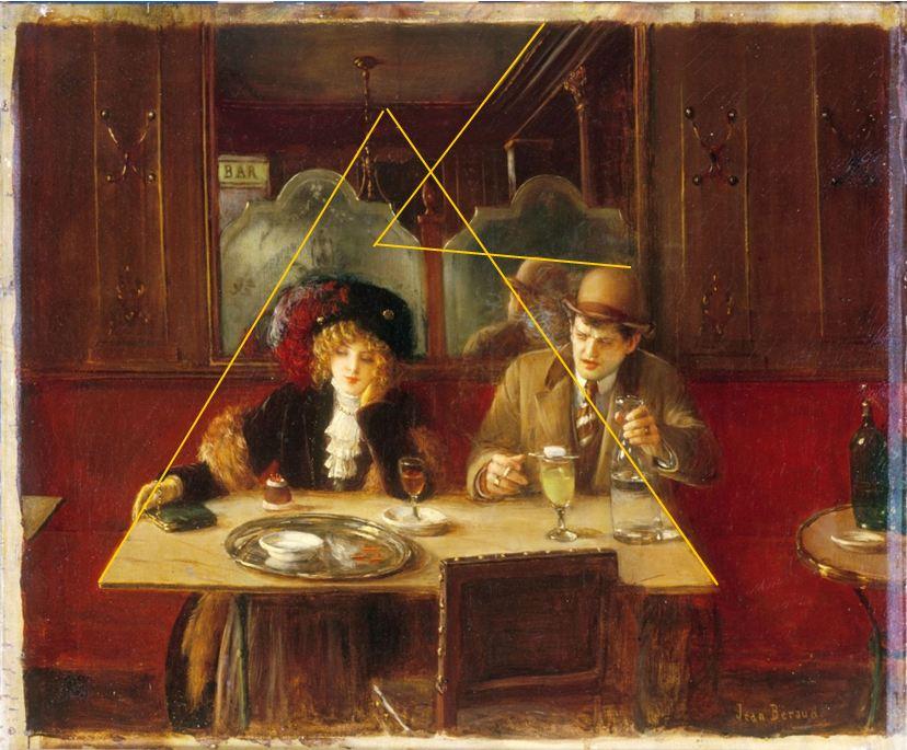 11a_Jean Beraud-Scene de cafe_pespective