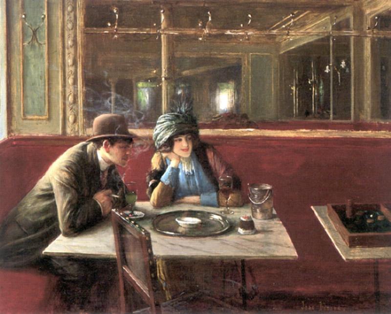 4 les bistrots de jean b raud abyme au caf for Restaurant miroir montmartre