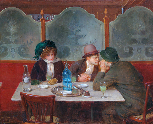 25_Jean Beraud_Buveurs absinthe 1909