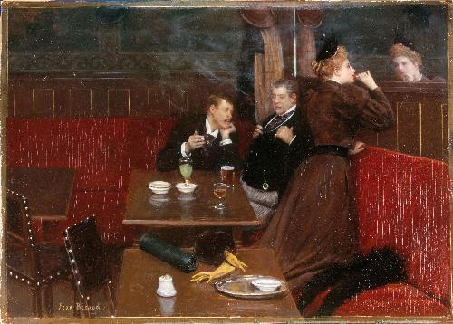 29 Jean_Beraud Au Cafe musee carnavalet 1910